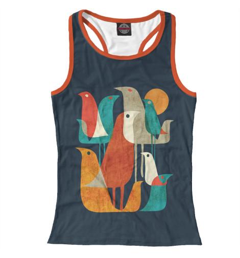 Купить Майка для девочки Осенние птицы PTI-179277-mayb-1