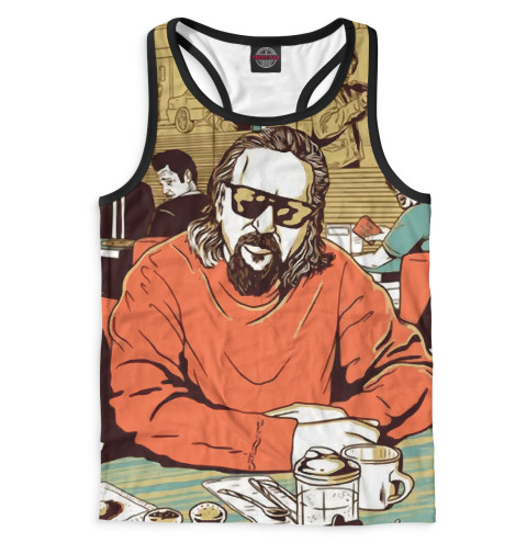Мужская майка-борцовка Большой ЛебовскийВсе майки изготавливаются в Москве на нашем производстве и состоят из высококачественного материала кулирная гладь – эта одна из самых долговечных и стойких к износу тканей. Благодаря этому, качество изображения на футболке получается наиболее ярким и насыщенным и выдерживает любое количество стирок.<br><br>Размер INT: 2XS,XS,S,M,L,XL,XXL,XXXL,4XL,5XL,104,110,116,122,128,134,140,146,152,158<br>Цвет: Белый<br>Пол: Мужской<br>Материал: Хлопок