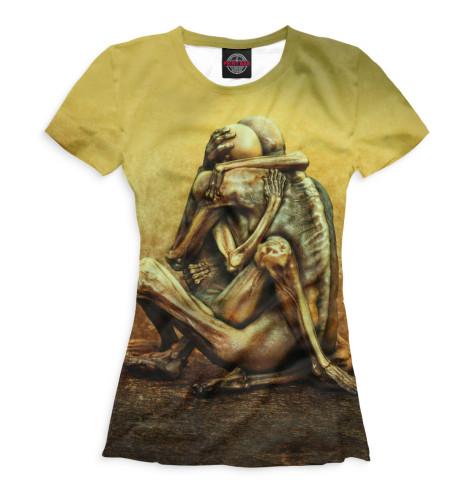 Фото - Женская футболка Хоррор от Print Bar белого цвета