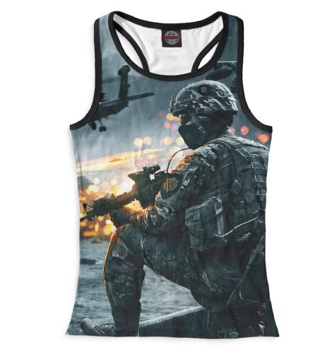 Майка борцовка Print Bar Battlefield 4 худи print bar battlefield 4 war