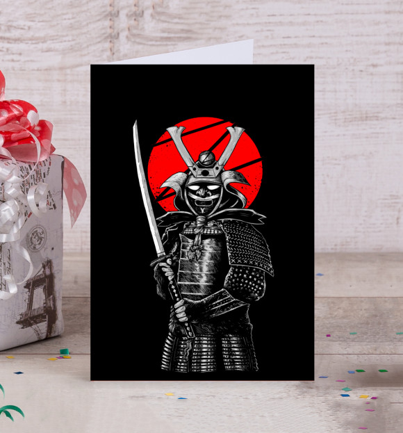Открытка с самураем, утром картинки прикольные