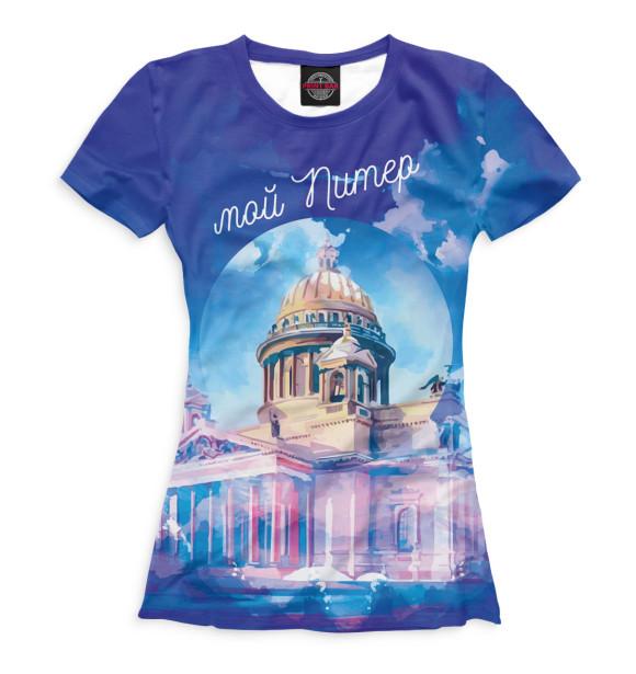 Купить Женская футболка Мой Питер SPB-148008-fut-1