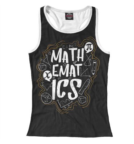 Майка борцовка Print Bar Математика математика
