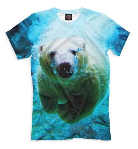 Мужская футболка Белый медведь под водой