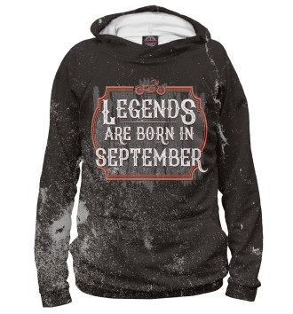 Мужское Худи Legends Are Born In September