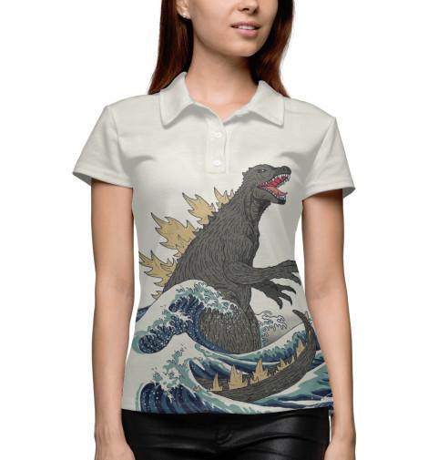 Поло Print Bar Godzilla футболка классическая printio godzilla white