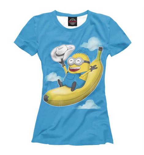 Купить Женская футболка Миньон на банане MIN-523679-fut-1