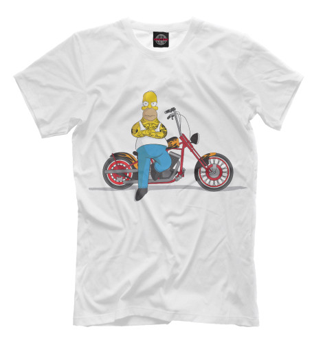 Футболка Print Bar Homer and his Motorbike