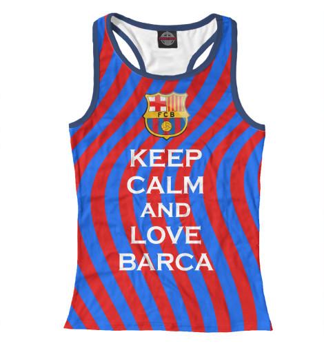 Майка борцовка Print Bar Keep Calm and Love Barca майка классическая printio keep calm until laters baby 50 оттенков серого