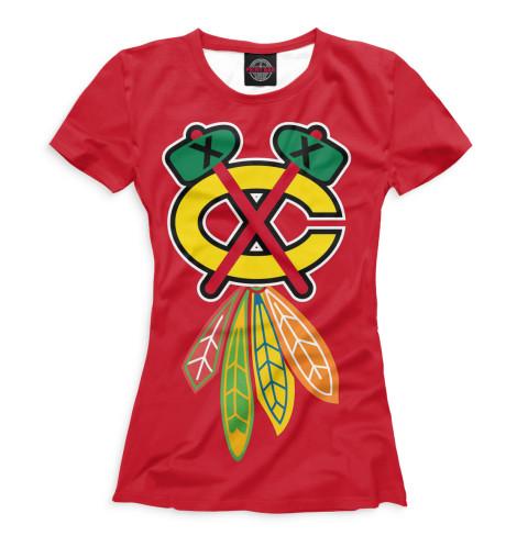 Женская футболка Хоккей