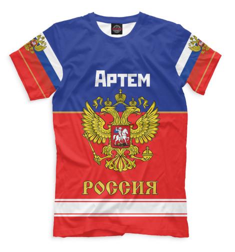 Мужская футболка Хоккеист Артем