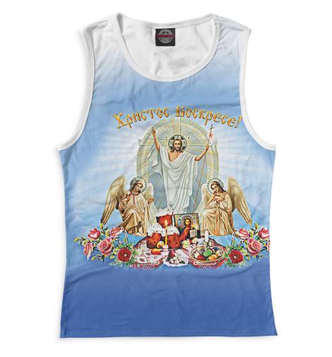 Майка Print Bar Христос Воскресе вышивка бисером молящийся христос