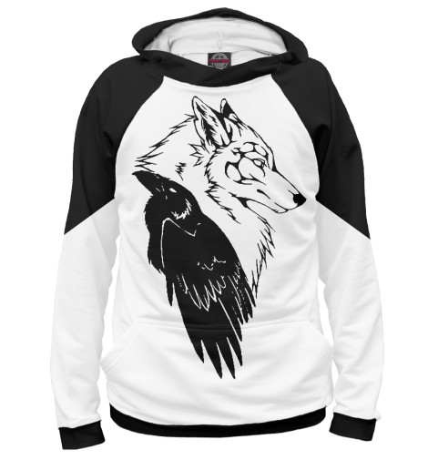 Худи Print Bar Wolf & Raven худи print bar native wolf