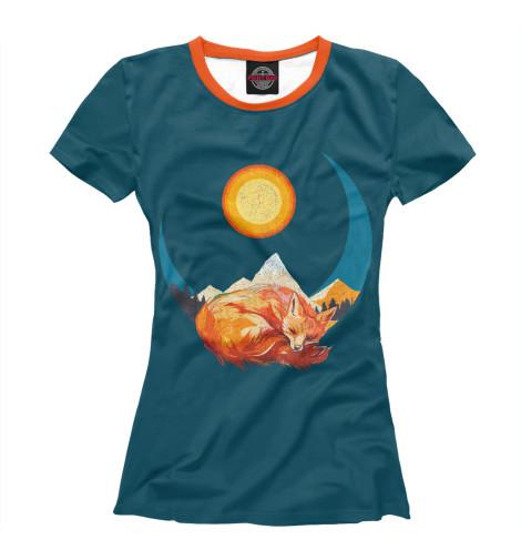 Купить Футболка для девочек Лунная лиса FOX-952677-fut-1