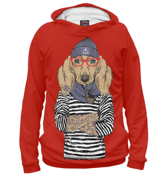 Купить Мужское худи Модная такса DOG-149012-hud-2