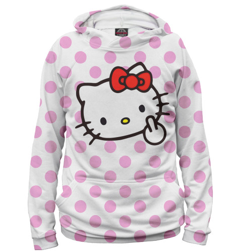 Женское худи Hello Kitty Print Bar MRT-698098-hud