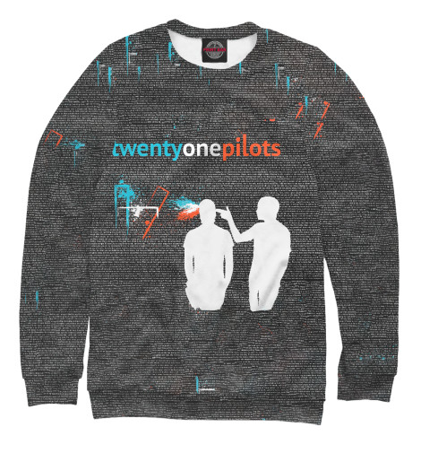Свитшот Print Bar Twenty One Pilots Z свитшот print bar h u m a n z