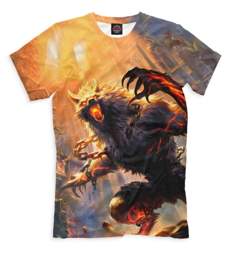 Мужская футболка Волк