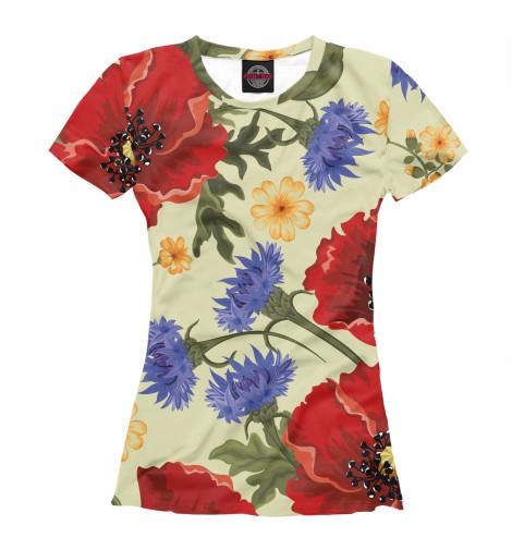 Футболка Print Bar Summer Flower футболка print bar flower tropic