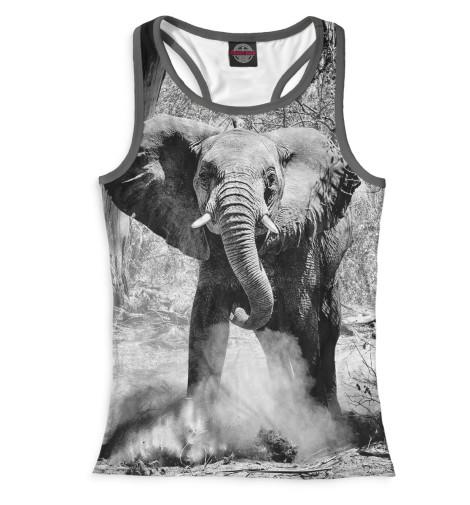 Женская майка-борцовка Слоны