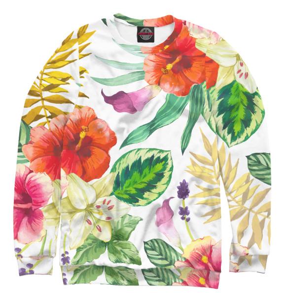 Купить Свитшот для девочек ЦВЕТЫ цветы CVE-270295-swi-1