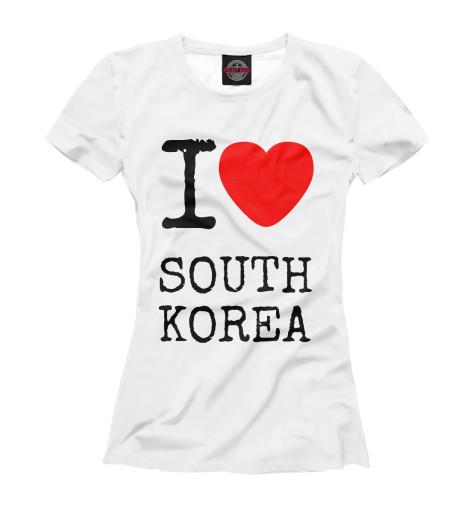Футболка Print Bar I love South Korea ожерелье south korea imports hellokitty