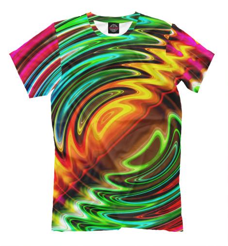 Футболка Print Bar Цветные волны футболка print bar цветные треугольники