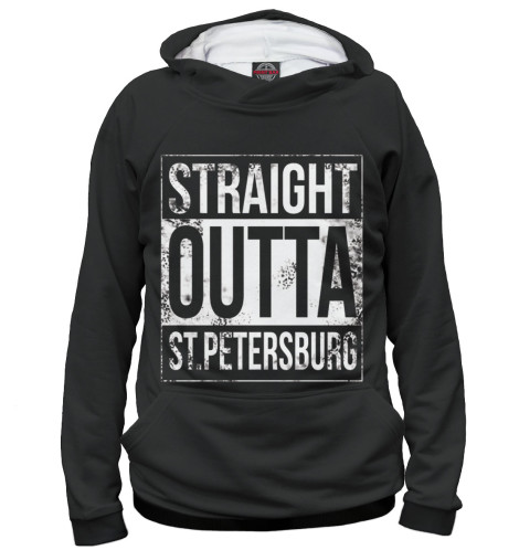 Женское худи Straight Outta St. Petersburg