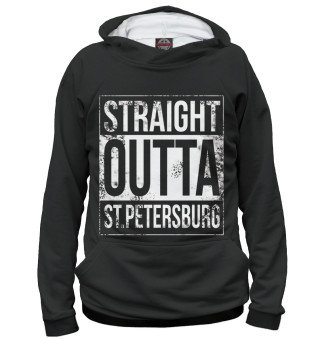Худи для девочки Straight Outta St. Petersburg
