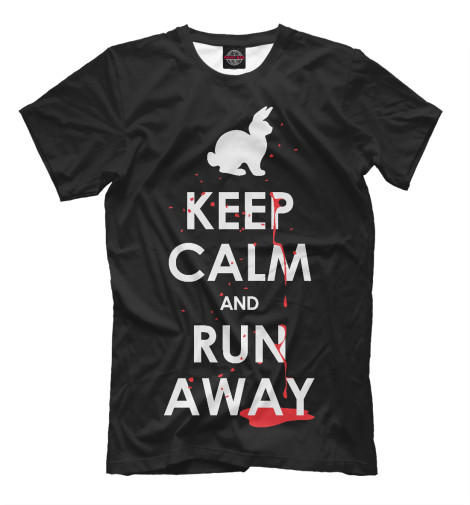 Футболка Print Bar Keep Calm & Run Away футболка wearcraft premium printio keep calm art