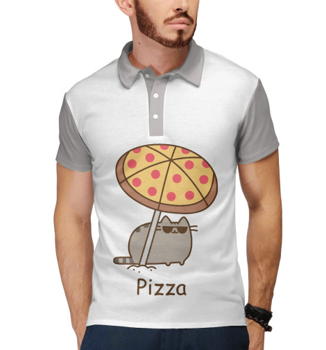 Поло Print Bar Pizza capricchio pizza