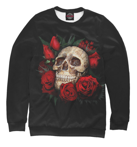 Свитшот Print Bar Skull & Rose свитшот print bar acid mind