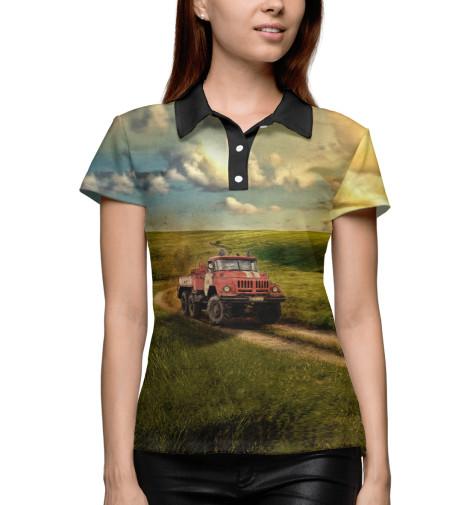 Купить Поло для девочки Пожарная машина MCS-477855-pol-1