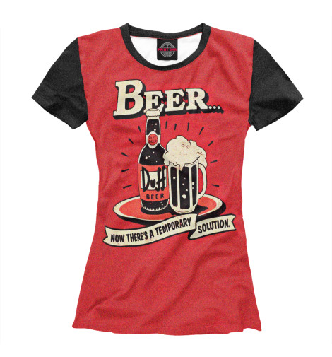 Футболка Print Bar Duff Beer худи print bar duff beer