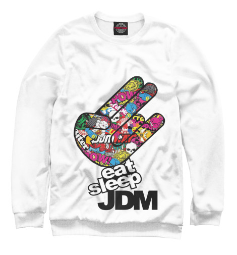 Свитшот Print Bar Eat Sleep JDM