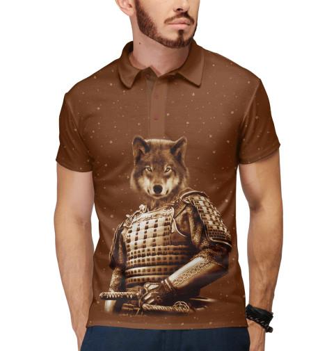 Поло Print Bar Волк самурай футболка print bar волк самурай