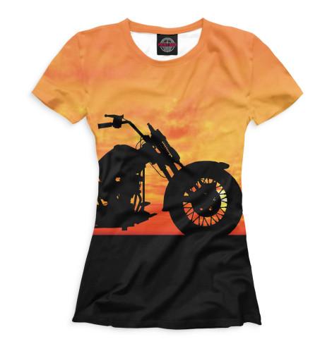 Женская футболка Мотоцикл