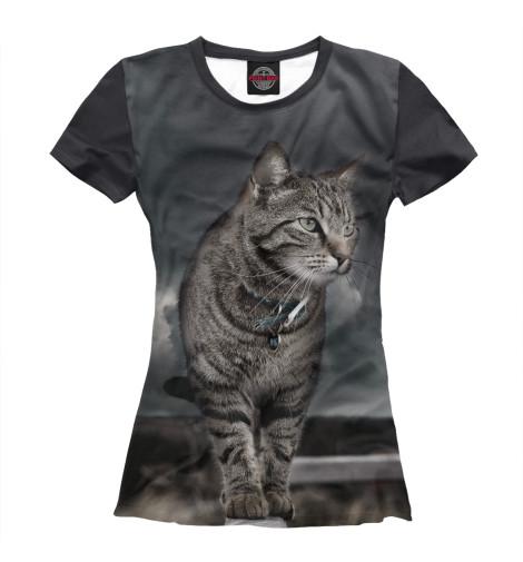 Купить Женская футболка Кот CAT-735060-fut-1