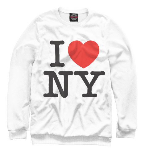 Свитшот Print Bar I Love New York dkny love from new york for women где