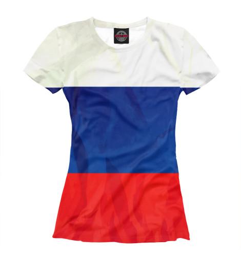 Фото - Женская футболка Россия от Print Bar белого цвета