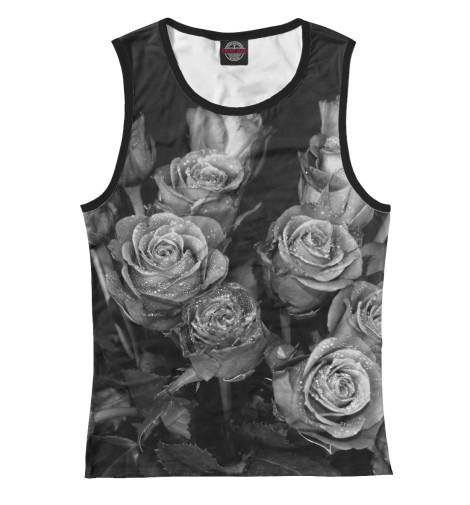 Майка Print Bar Черно-белые розы