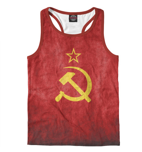 где купить Майка борцовка Print Bar Флаг СССР дешево