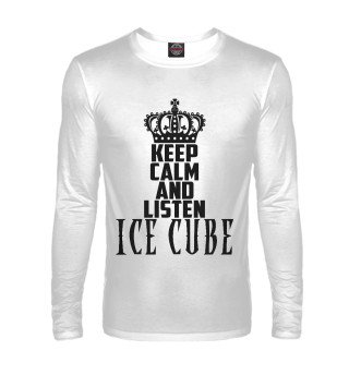 Мужской лонгслив Keep calm and listen Ice Cube