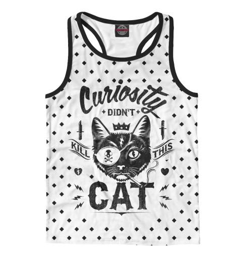 Майка борцовка Print Bar Curiosity Cat