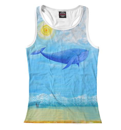 Майка борцовка Print Bar Синий кит