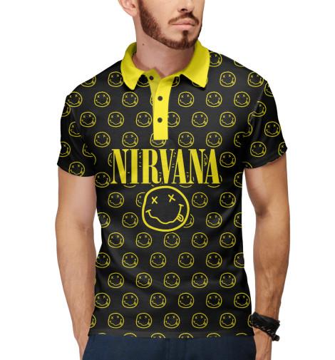 Поло Print Bar Nirvana Forever nirvana