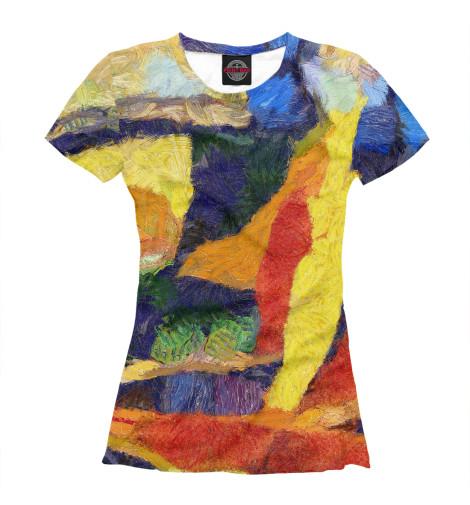 Футболка Print Bar Цветные краски футболка print bar цветные треугольники
