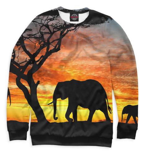 Женский свитшот Слоны