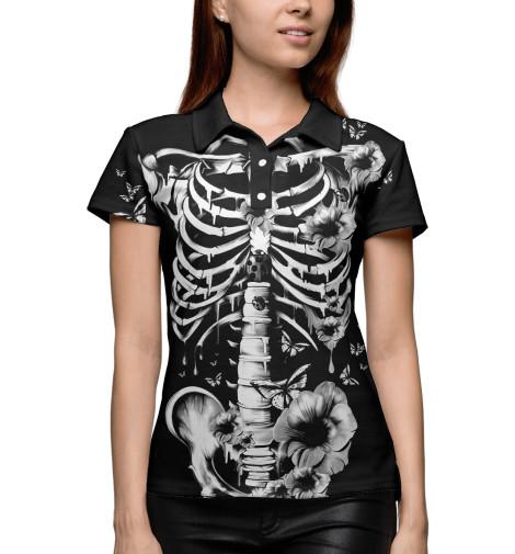 Поло Print Bar Floral Skeleton men skeleton print tee