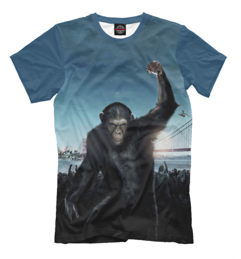 Футболка Print Bar Восстание планеты обезьян поло print bar война планеты обезьян